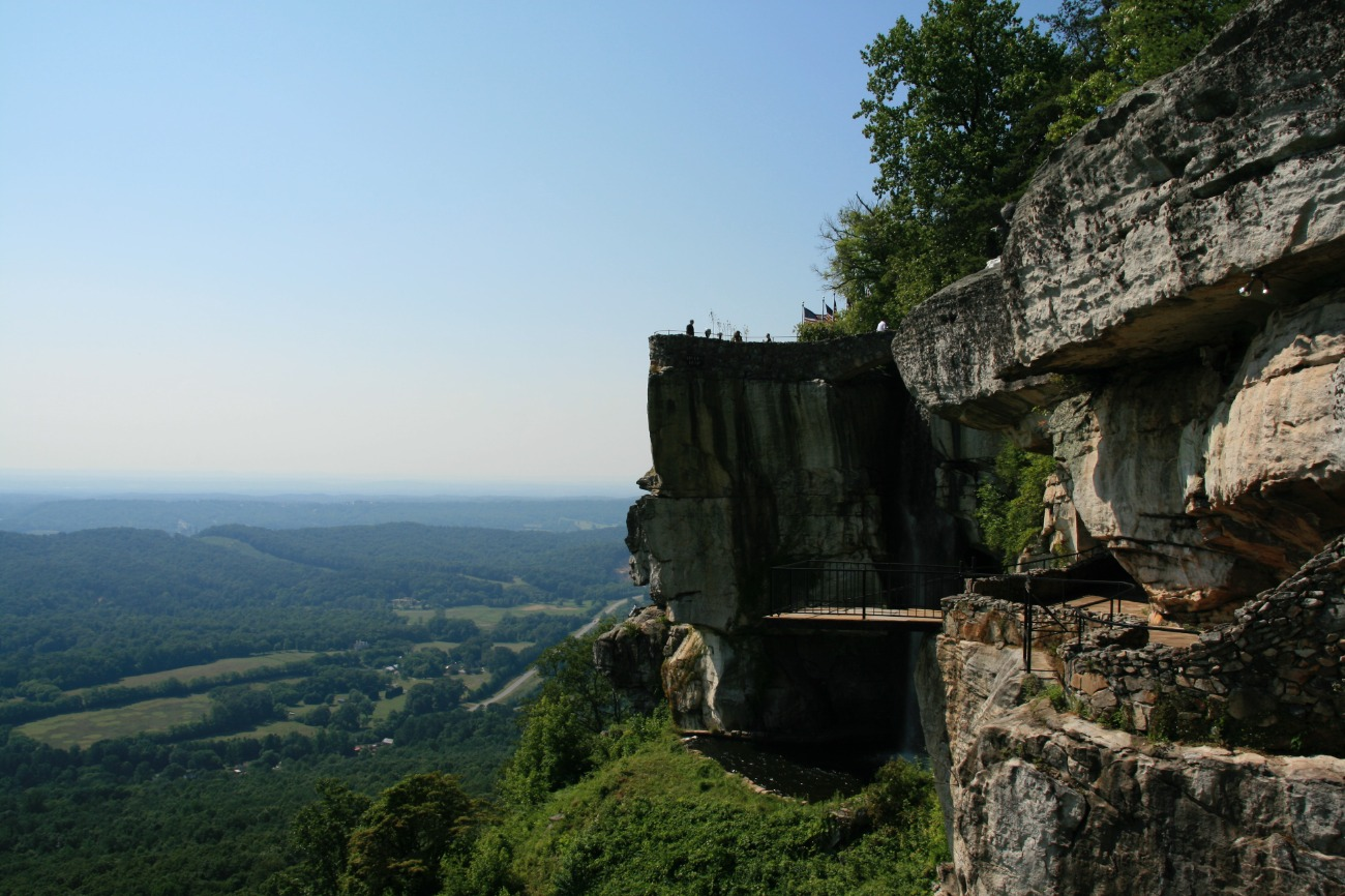 Chattanooga Lookout Point over Sprawling Green Hills