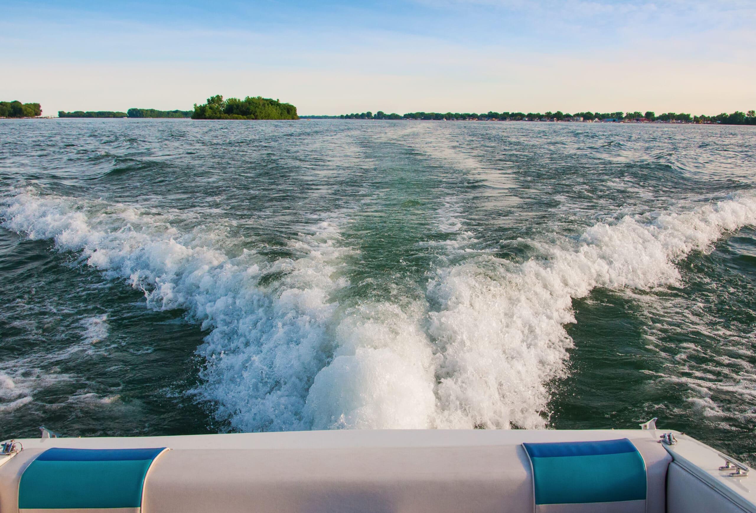 pontoon boat on river